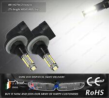 2x LED 881 H27W/2 4500k Xenon White Fog Daytime Running Lights DRL Bulbs Lamps