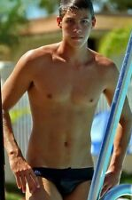 Shirtless Male Athletic Jock Swimmer Hunk Speedo Out of Pool Guy PHOTO 4X6 F235
