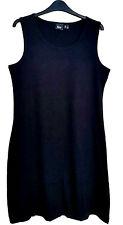 Plain Black Cotton Sleeveless Jersey dress Ladies UK Size Medium (M), Euro 40/42