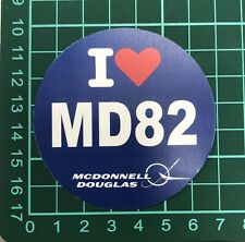 I Love MD82 (1 PC) About 7 cm (2.75'')