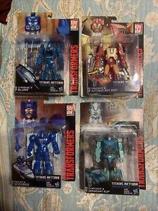 Transformers Titans Return Lot of 4 Hot Rod Triggerhappy Krok Sergeant Kup NEW