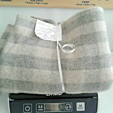 New listing N#7 100% Wool Rebecca Erb 1 Yd Grey Plaid 14.7 Oz Rug Hooking or Applique