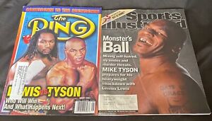 """MIKE TYSON vs LENNOX LEWIS 2002 PRE FIGHT MAGS """"THE RING"""" + """"SPORTS ILLUSTRATED"""""""