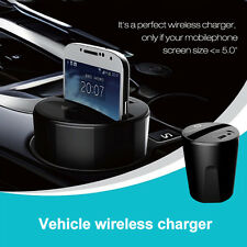 Car Wireless Charger USB Charging Pad Transmitter Dock For iPhone Sumsung LG