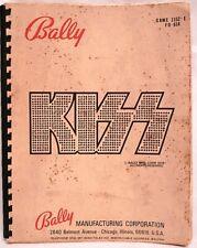 Kiss Rock Group Bally Mfg Pinball Machine Repair Parts Manual 1152 E Fo 614