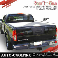 Fits 2015-2019 Nissan Frontier 5Ft Truck Bed Tri Fold Soft Tonneau Cover 60in