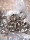 35 x Vintage PATINA Steel Auto Hose Clamps - FOR SCRAP FOUND ART CRAFT PROJECTS