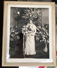 Beautiful 1930's Bride Antique Photograph Wedding Portrait Flower Sprays