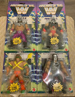 WWE Mattel COMPLETE SET Masters of the Universe Figures Warrior//Balor//HHH//Sting