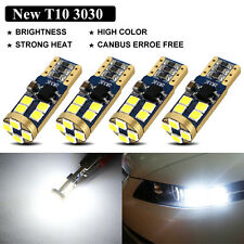 4Pcs Canbus No Error T10 3030 12-SMD OSRAM LED White Car Side Light Bulbs 720LM