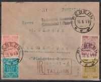 Estonia 1919 R-Cover to Helsinki with Mi 1-4; 15.05.1919