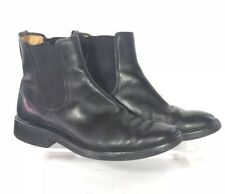 TODS Mens Chelsea Boots UK 7 US 8 Black Leather Pull On