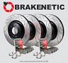 [F&R] PREMIUM GT SLOT Brake Rotors + POSI QUIET Pads SRT8 w/BREMBO BPK90196