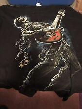 Short Sleeve T Shirt Size XL Skeleton Guitar Player
