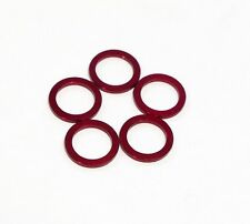 ChainRing Nut 1.5mm Alloy Alumium Spacer Kit, Red, 5 pcs
