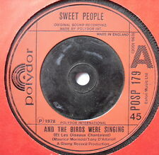 "SWEET PEOPLE - And The Birds Were Singing - Ex Con 7"" Single Polydor POSP 179"
