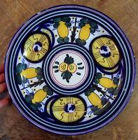 Ancienne assiette peint à la main décor de fruits art de la table