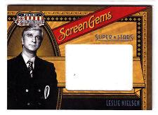 2011 Americana JUMBO LESLIE NIELSEN SCREEN GEMS SUPER STARS SWATCH CARD # TO 10!