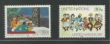 UNITED NATIONS, NEW YORK # 515-516 MNH U.N. DAY, MULTINATIONAL PEOPLE