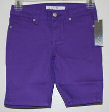 JOE'S JEANS Girls Solid PURPLE Bermuda Stretch Everyday Cotton Shorts sz 8