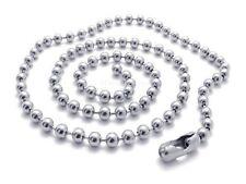 KUGELKETTE Edelstahl 2 mm Halskette für Anhänger 40 - 80 cm Kette Herren Damen