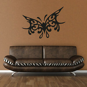 Wandtattoo Schmetterling Tribal Butterfly Aufkleber Wall Art Wand Tattoo #2024