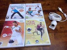 Nintendo Wii Fitness Bundle x4 Active Coach la forma più gli allenamenti + fotocamera