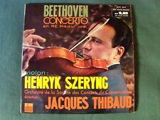 BEETHOVEN concerto en ré / HENRYK SZERYNG - JACQUES THIBAUD LP  ODEON XOC 804