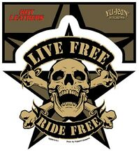 Live Free Ride Free Scull Sticker Aufkleber MC Rockabilly,Old School,Motorcycles
