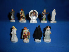 LORD OT RINGS TWO TOWERS Set of 9 French Figurines Porcelain FEVES Figures Gloss