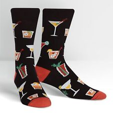 Cocktails on Men's Crew Socks by Sock It To Me