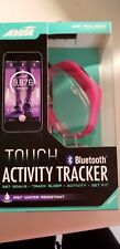 AVIA Touch Activity Tracker Bluetooth Water Resistant w 2 Bands - Pink + Black