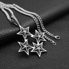 Collar Colgante de 4 Estrellas Cadena para Hombre Amigo Novio
