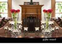 5 bulk lot VASE black iron Candle holder candelabra wedding centerpiece LARGE