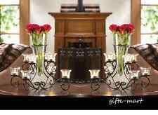 10 bulk lot VASE black Candle holder candelabra floral wedding table centerpiece