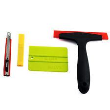Car Window Scraper Wrap Tint Vinyl Film Squeegee Cleaning Tool Kit+10 Pcs blade