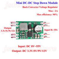 2A DC-DC Buck Step Down Converter  8v-55v to 3.3v 5v 9v 12v Power Supply Module