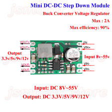 DC-DC 8v-55v to 3.3v 5v 9v 12v 2A Buck Step Down Converter Power Supply Module