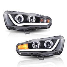 VLAND For 2008-2017 Mitsubishi Lancer / CJ CF Evo X LED angle eyes Headlights