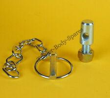 1 x Lynch Pin & Chain 8mm dia. pin x 40mm dia. ring with a bolt on locking tab