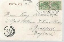 Alemania 1903 TPO CANCELAR Weida en Postal par 5pf GB mi ref 927