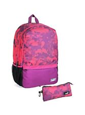 New Puma Backpack & Pencil Case Metal Zip Puller With Reflective Cord Loop Pink