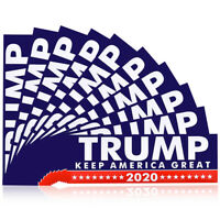 10pcs for Donald Trump President 2020 Keep America Great Car Stickers Decals