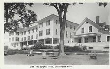 1950 Langsford House Cape Porpoise Maine Real Photo Pc Close-Up of Buildings
