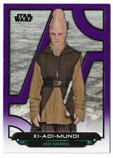 2017 Topps Star Wars Galactic Files Reborn Purple TPM-19 Ki-Adi-Mundi #16/99