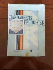 Stickpackung Kreuzstich  Tischdecke Ostermotiv