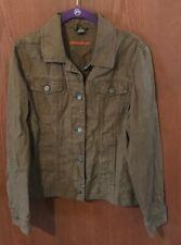 Gorgeous Eddie Bauer 100% Linen Brown Jacket Coat Sz L EXCELLENT TUB26