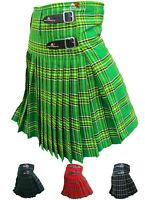 Mens Kilt Scottish Tartan Kilts 13oz Highland Casual Wear 4 Acrylic Tartans AAR