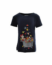 MOSCHINO KIDS T-shirt stampa sul fronte applicazioni rose in SALDO