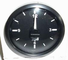 QUARZ UHR - ZEITUHR  CLOCK 12V/24V 52mm Schwarz mit schwarzen Rand 2732027